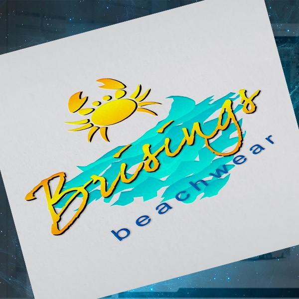 Criação de Logo Elaboração de marca para moda praia