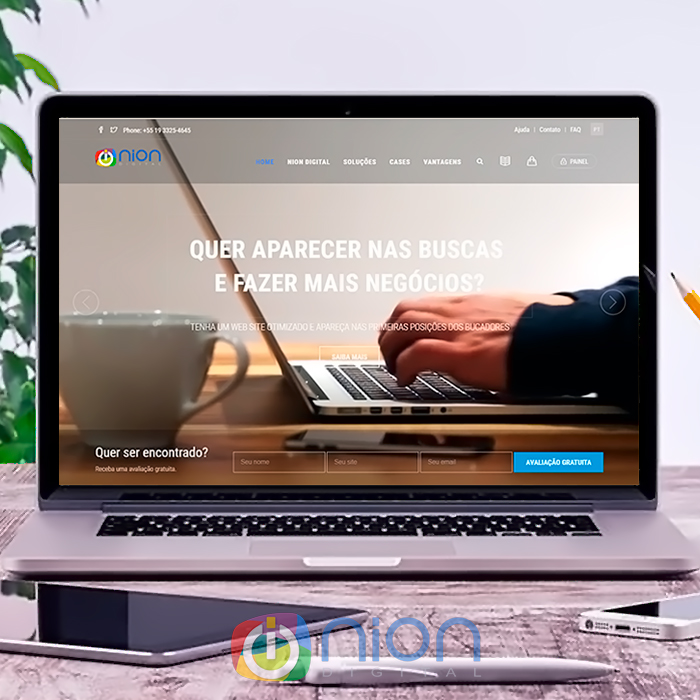Website Nion Digital Marketing Criação de novo site da empresa